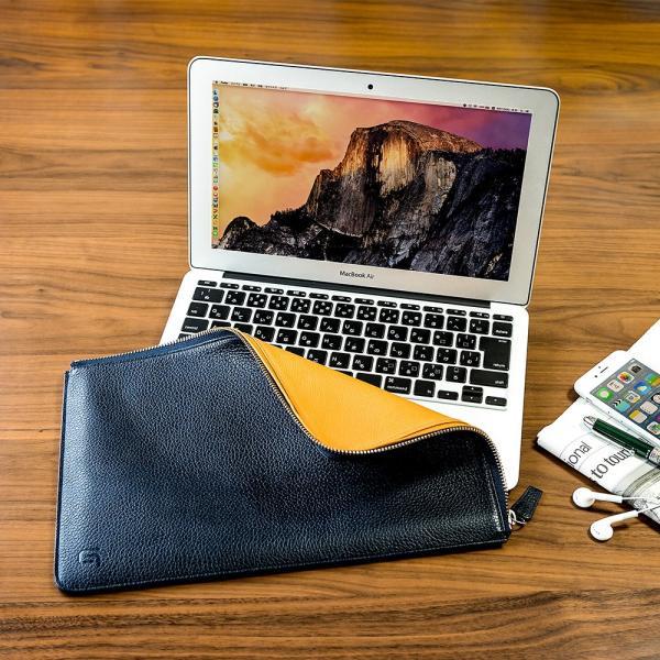 GRAMAS グラマス MacBook Air 11inch 本革 レザーケース スリーブ Meister Leather Sleeve 高級 ビジネス ギフト|gramas|03