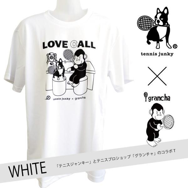 【ネコポス便送料無料】テニスジャンキー×テニスプロショップ「グランチャ」 コラボTシャツ【ホワイト】|grancha914