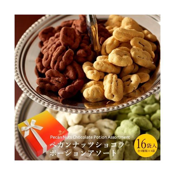 ギフトお菓子詰め合わせプレゼントピーカンナッツチョコチョコレートペカンナッツショコラポーションアソート16袋入
