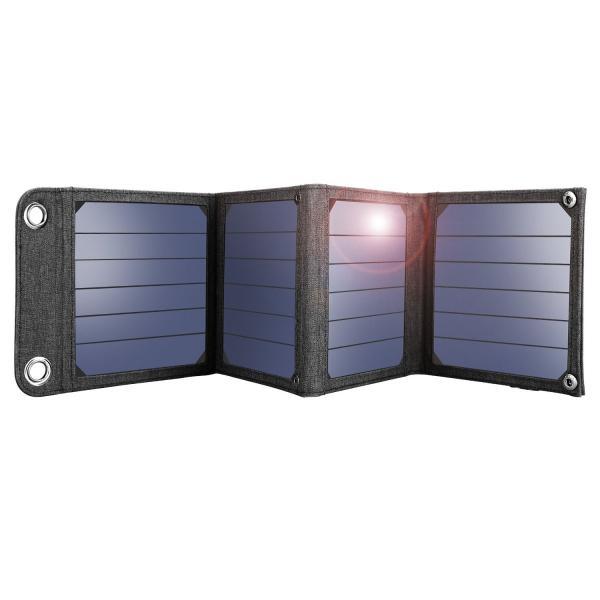 suaoki ソーラーチャージャー 14W ソーラーパネル 4枚搭載 折りたたみ式 USB自動検知機能搭載 軽量 コンパクト ポータブル アウトドア 防災 非常用時 スマホなど|grandbox|02