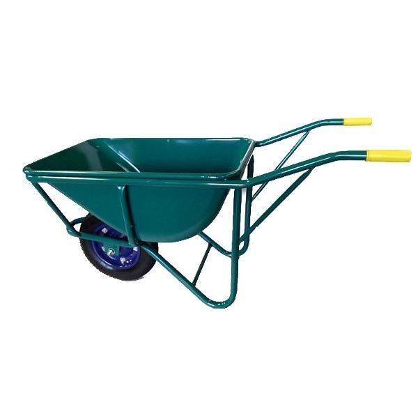 【大型商品】【国産】運搬用一輪車 深型 三才車 ネコ車 ノーパンクタイヤ付き