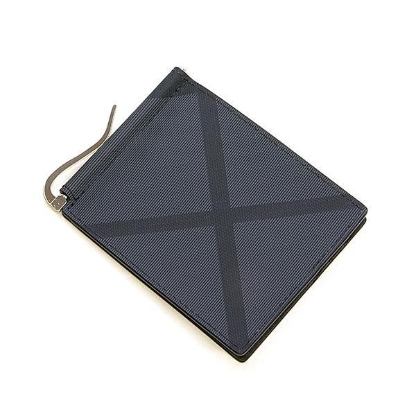 399254316c76 バーバリー 2つ折り財布 メンズ BURBERRY チャコール/ブラック ロンドンチェック&レザー QUILLEN 8006056 A1008