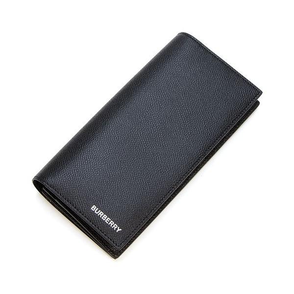 バーバリー 2つ折り長財布(小銭入れ付き) メンズ BURBERRY グレイニーレザー コンチネンタルウォレット ブラック CAVENDISH 8014642 A1189 BLACK|grande-tokyo