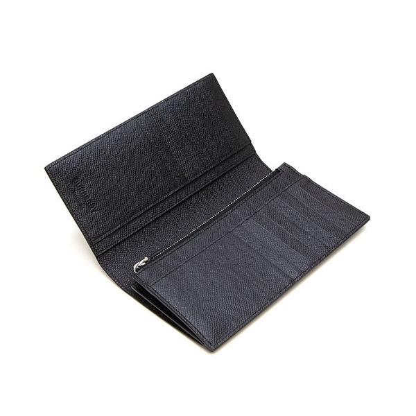 バーバリー 2つ折り長財布(小銭入れ付き) メンズ BURBERRY グレイニーレザー コンチネンタルウォレット ブラック CAVENDISH 8014642 A1189 BLACK|grande-tokyo|03