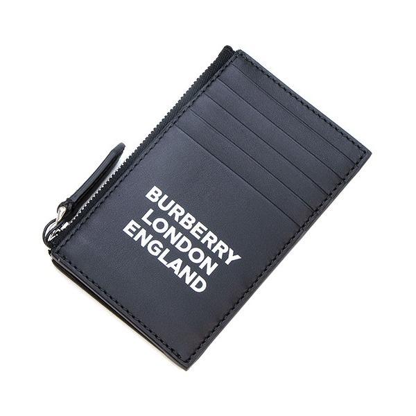 バーバリー BURBERRY カードケース ロゴプリントレザー ジップカードケース ブラック ALWYN 8014709 A1189 BLACK|grande-tokyo