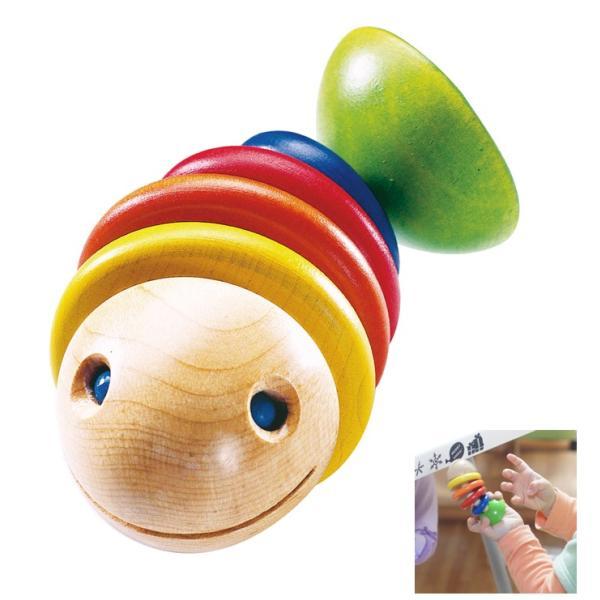 ラトル・モビー[HABA/ハバ社]ラトル おしゃぶり/歯がため/出産祝い/お誕生日 0歳 男(男の子)/お誕生日 0歳 女(女の子)/木のおもちゃ/木製玩具/魚/知育玩具