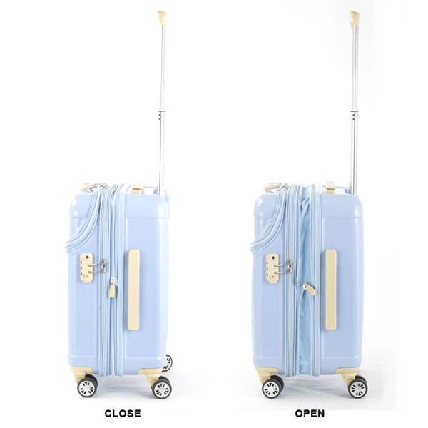 スーツケース ACTUS アクタス (Sophie ソフィー 機内持込 キャビンサイズ 小型 Sサイズ 拡張トップOPEN) 53cm (Sサイズ)(キャリーバッグ)(送料無料)|grandplace|04