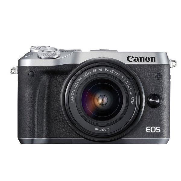 CANON EOS M6 EF-M15-45 IS STM レンズキット シルバー ミラーレスカメラ【15倍ポイント】