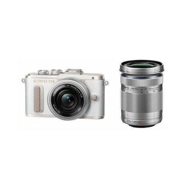 OLYMPUS PEN E-PL8 EZダブルズームキット ホワイト デジタル一眼カメラ (1605万画素)【15倍ポイント】