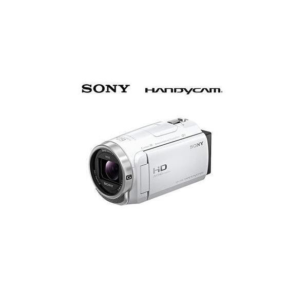 SONY デジタルHDビデオカメラレコーダー ハンディカム 64GB HDR-CX680-W ホワイト【15倍ポイント】