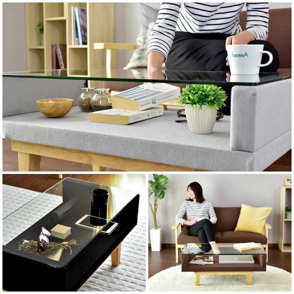 ガラステーブル カフェテーブル テーブル ローテーブル センターテーブル フロア ガラス おしゃれ  (カラン)(KIC)(ドリス)|grazia-doris|04