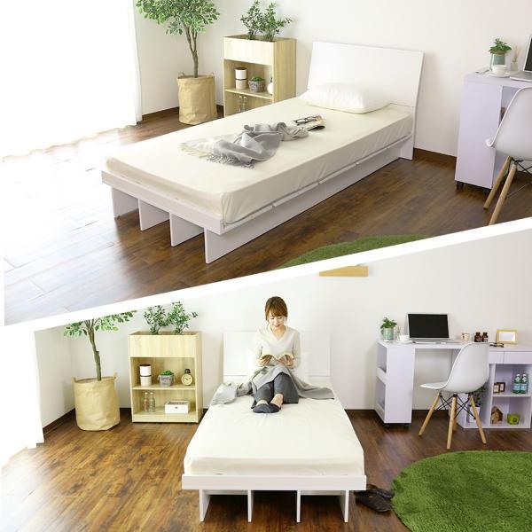 ベッド ベット ロータイプ ローベッド フロアベッド 木製 収納 シングルサイズ ベッドフレーム シンプル コモドS 北欧|grazia-doris|06