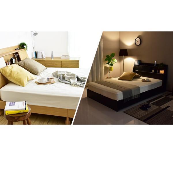 ベッド ベット セミダブル サイズ ベッドフレーム収納付き 宮棚 スライド扉付き コンセント 引出し 引き出し グラードSD 北欧 grazia-doris 02