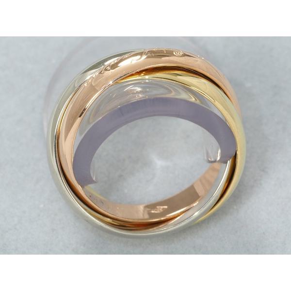 カルティエ リング 指輪 トリニティ 3連 K18YG/WG/PG 51号【中古】BLJ 超大幅値下げ品