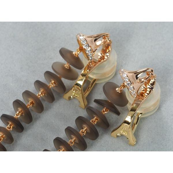チセー イヤリング クォーツ 4.68ct/4.68ct ダイヤ ダイヤモンド 0.21ct/0.21ct K18YG/PG BLJ