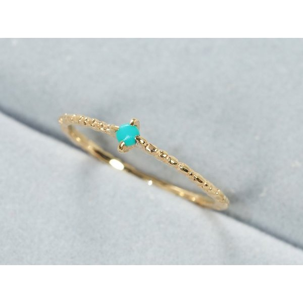 クロチェ リング 指輪 ターコイズ トルコ石  ピンキーリング 指輪 5号 K10YG BLJ/GENJ|greeber01|02