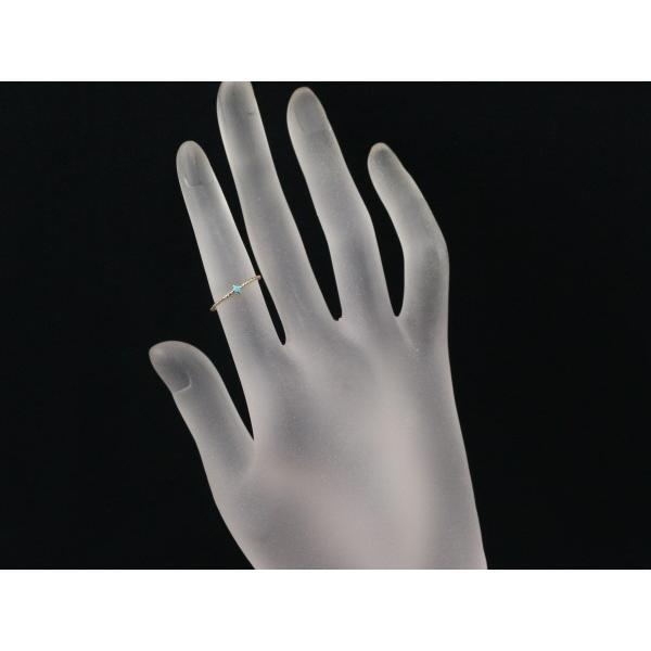 クロチェ リング 指輪 ターコイズ トルコ石  ピンキーリング 指輪 5号 K10YG BLJ/GENJ|greeber01|04