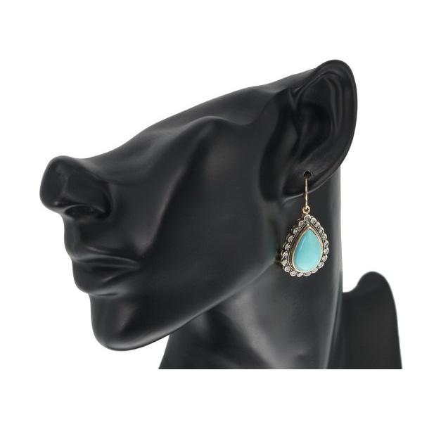 ターコイズ トルコ石 ダイヤ ダイヤモンド ピアス K14PG/シルバー GENJ|greeber01|04