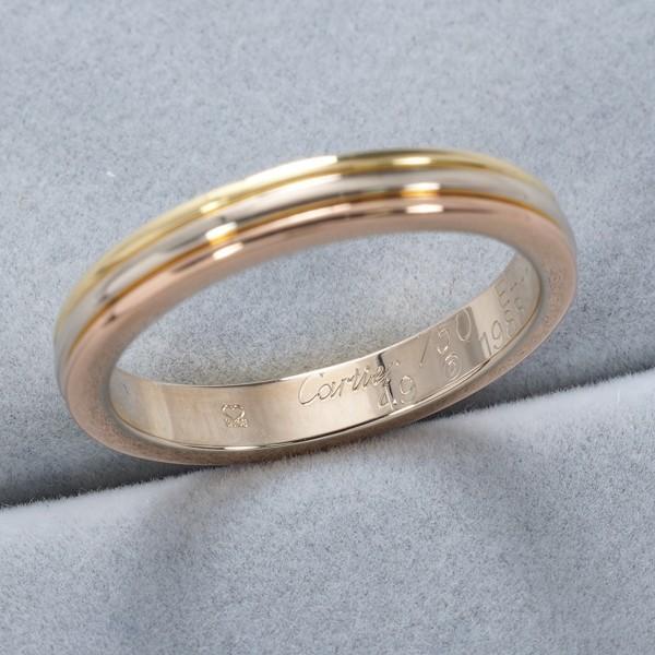 カルティエ リング 指輪 スリーカラー 49号 K18YG/WG/PG BLJ