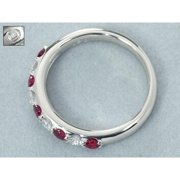 上質ルビー 0.50ct ダイヤ ダイヤモンド 0.21ct リング 指輪 11号 Pt900/プラチナ GENJ