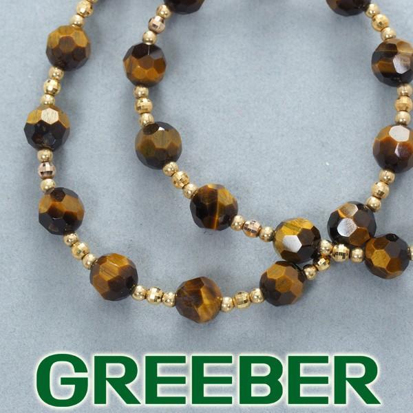 タイガーアイ カッティング ネックレス K18YG GENJ 超大幅値下げ品 greeber01