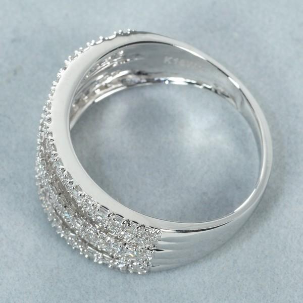 プリンセスカット ダイヤ ダイヤモンド 1.00ct リング 指輪 K18WG GENJ