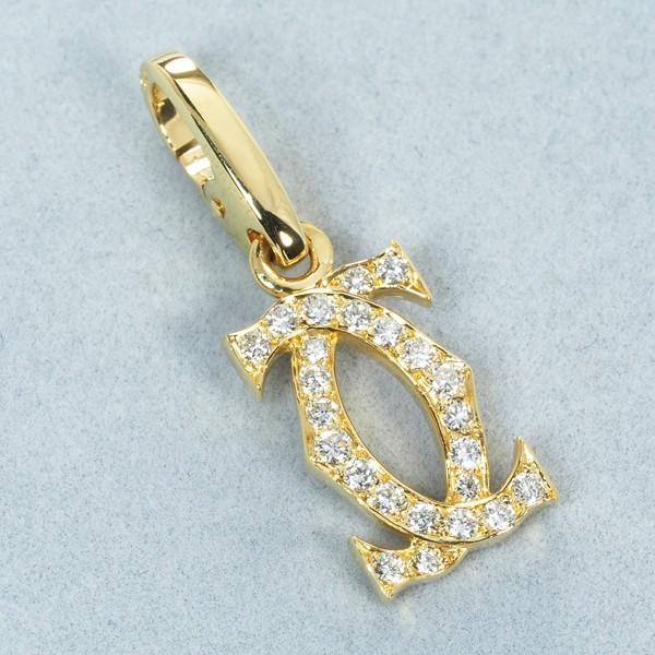 カルティエ ペンダントトップ ダイヤ ダイヤモンド 2C K18YG BLJ