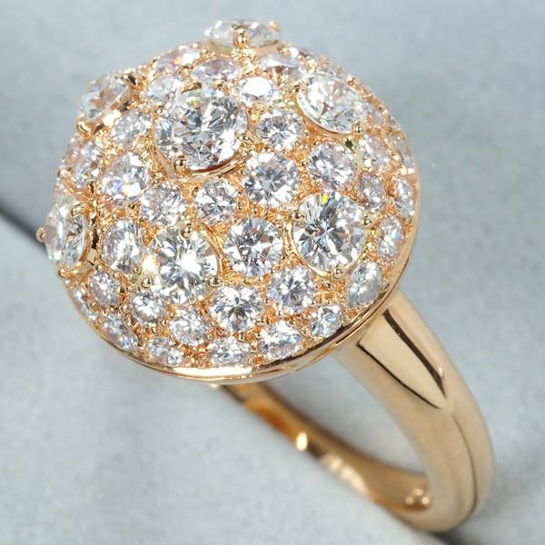ピキョッティ リング 指輪 極上ダイヤ ダイヤモンド 2.14ct 12号 K18PG BLJ/GENJ
