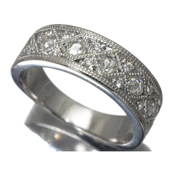 ダイヤ ダイヤモンド 2種カット輝く 指輪 K18WG  GENJ  超大幅値下げ品