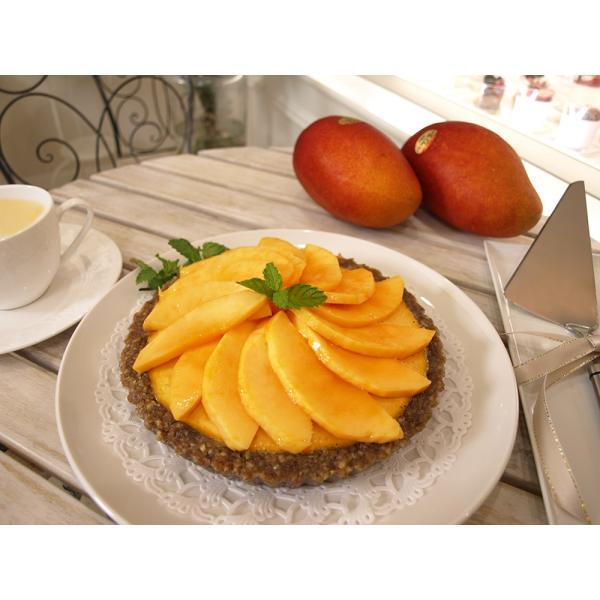 4Lの超大玉国産完熟マンゴーを丸々1個 贅沢につかったRawマンゴータルト (ロースイーツ RawSweets) 乳製品不使用 グルテンフリー 卵不使用 ビーガン|greedy|02