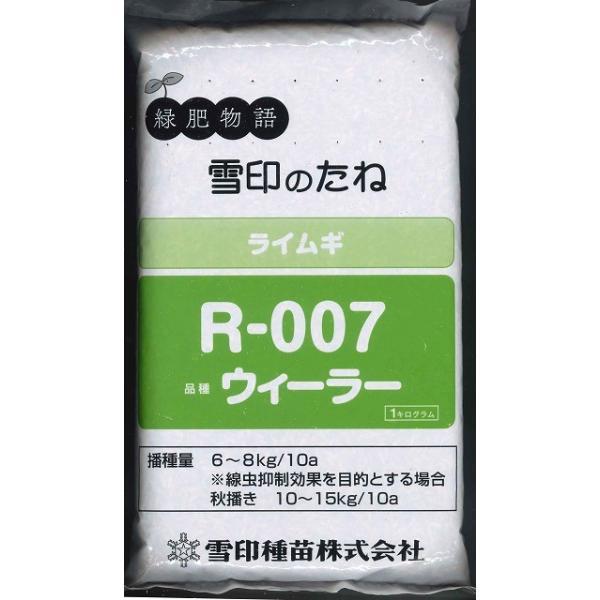 緑肥 ライ麦 R-007 1kg  雪印種苗