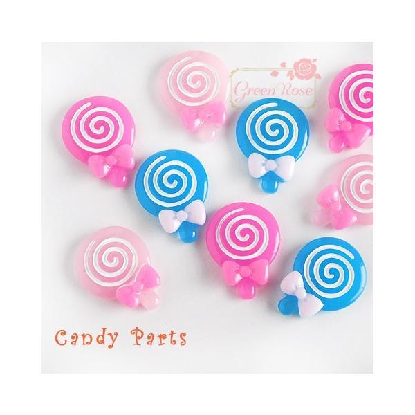 くるくるミニキャンディパーツ ミックス30個 キャンディ 飴 デコ 貼付 スイーツ   1812 YM1-0883