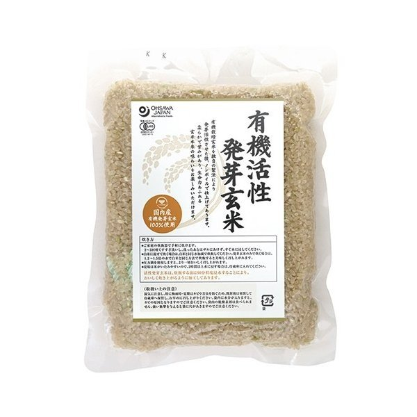 オーサワ 国内産有機活性発芽玄米 500g ow jn