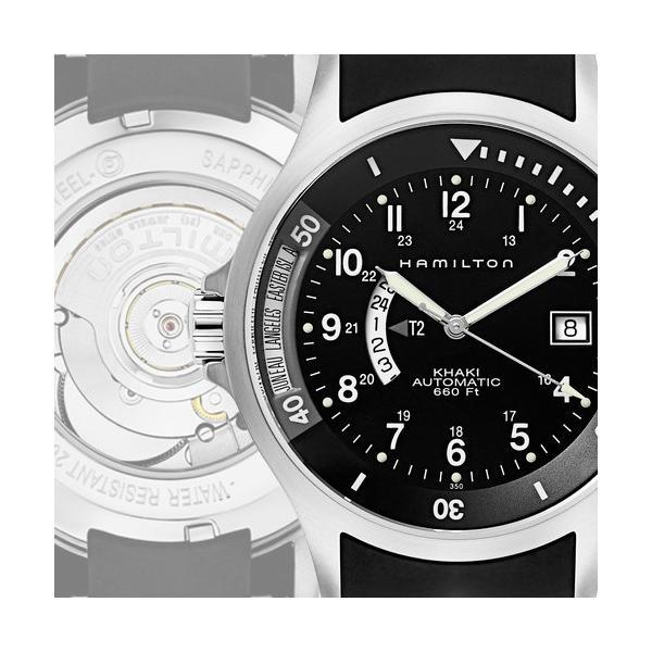 promo code 5a0fd faec0 ハミルトン カーキ ネイビー GMT 腕時計 メンズ 時計 Hamilton Khaki Navy GMT Watch ワールドタイム  H77615333 ラバー