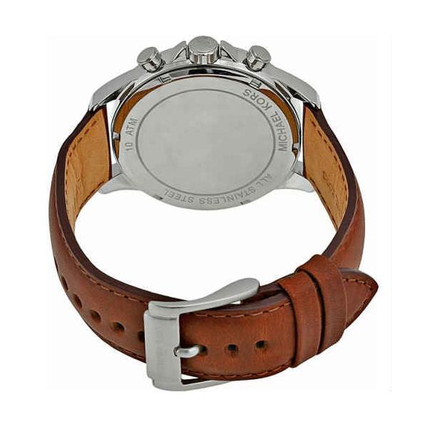 1420b2a3309c ... マイケルコース 時計 クロノ メンズ 腕時計 ゲージ Michael Kors Gage MK8362 ミリタリー パイロットウォッチ ブラウンレザー  ...