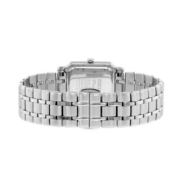 SEIKO セイコー クオーツ プルミエ 腕時計 レディース 時計 海外 逆輸入モデル Premier SWR029P1 スクエア ステンレス 23mm