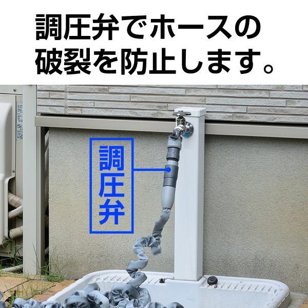 ホースリール 15m 伸びる ホース 丈夫 おしゃれ 日本製 ウェーブGホース R015ET 新商品 送料無料 タカギ takagi 安心の2年間保証|greentools|05