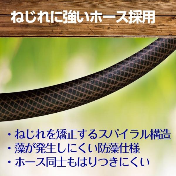 ホースリール おしゃれ ブラウン 20m 送料無料 タフブラウン R220TBR takagi タカギ 安心の2年間保証 greentools 04