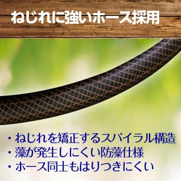 ホースリール おしゃれ タカギ 50m ブラウン 送料無料 タフブラウン R550TBR takagi 安心の2年間保証|greentools|03