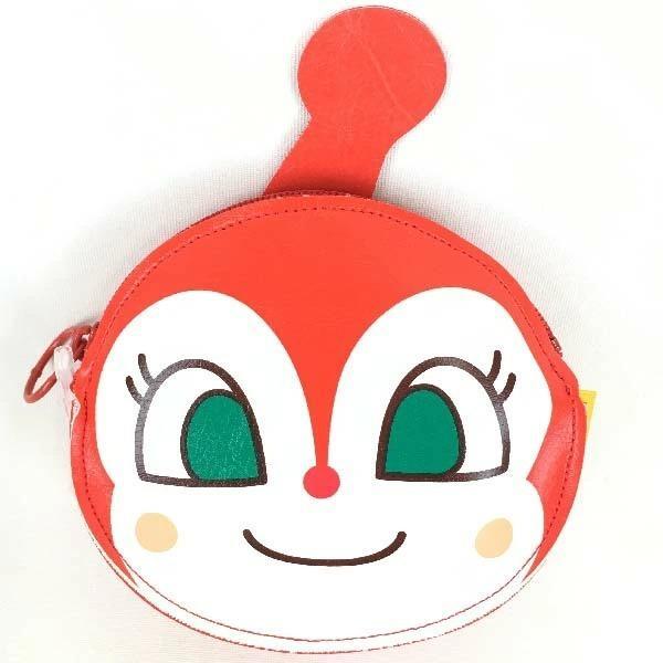 アンパンマン 小物入れ【ドキンちゃん】011797 アンパンマンの顔型のかわいい ポーチ