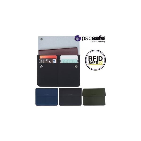 [送料299円〜]PacSafe(パックセーフ) RFIDsafeTECパスポートウォレット(カード収納付パスポートケース) 12970205 2点迄メール便OK(ei0a231)