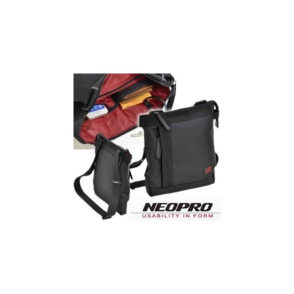 NEOPRO RedZone(ネオプロ レッドゾーン)ウスマチショルダーバッグ 2-021(1-861) A4サイズ対応 ブラック(en0a009)