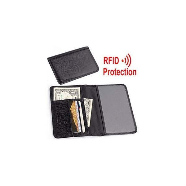 [送料299円〜]GPTスキミング防止パスポートケース本皮(RFIDブロック牛革カードケース) 黒 アウトレット 2点迄メール便OK(gu1a236)