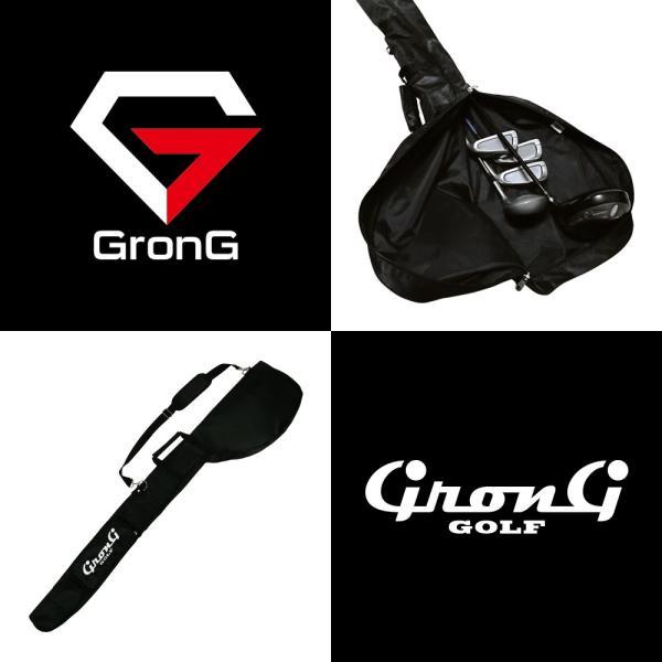 GronG ゴルフ クラブケース ソフトケース コンパクト 5〜6本 ポケット付き|grong|02