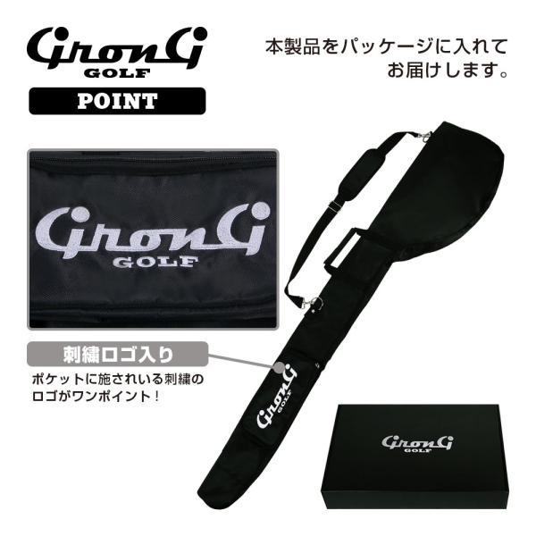 GronG ゴルフ クラブケース ソフトケース コンパクト 5〜6本 ポケット付き|grong|06