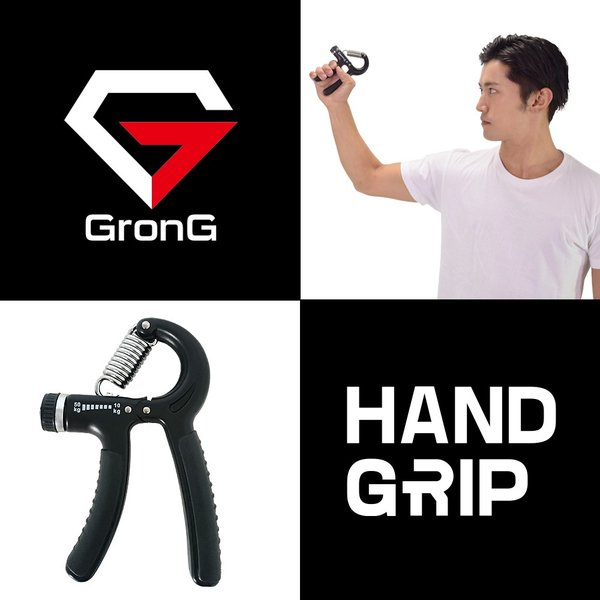 GronG ハンドグリップ 握力 トレーニング 筋トレ ハンドグリッパー 10kg-50kg ブラック|grong|03