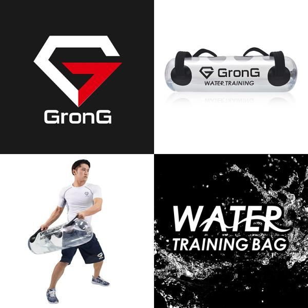 GronG ウォータートレーニング バッグ 体幹 筋トレ 水 15L スポーツ エクササイズ 器具 フィットネス マニュアル 空気入れ付き|grong|02