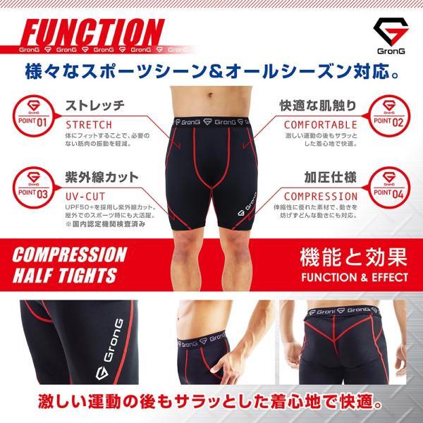 GronG スポーツタイツ メンズ コンプレッション アンダーウェア ショート|grong|04