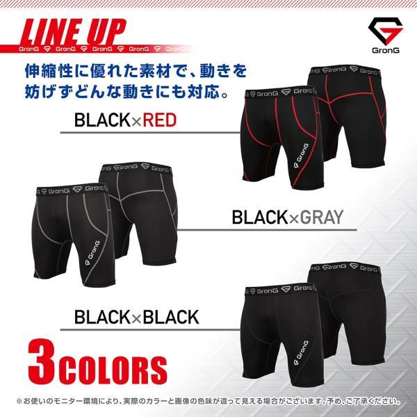 GronG スポーツタイツ メンズ コンプレッション アンダーウェア ショート|grong|05