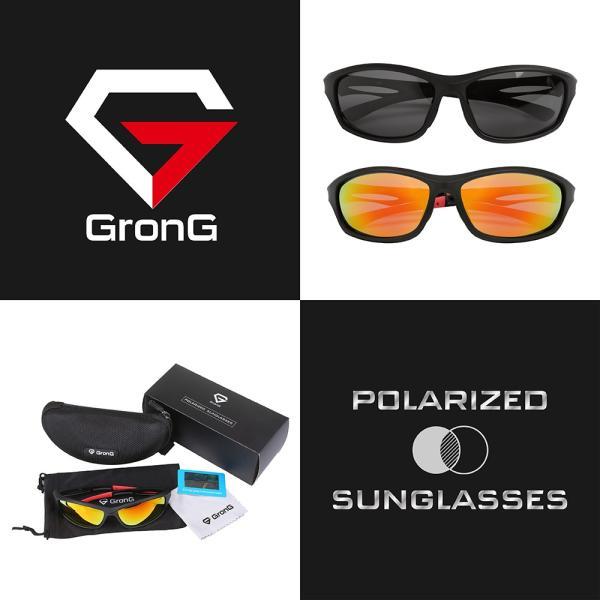 GronG 偏光サングラス スポーツサングラス UV400 ゴルフ 釣り 運転 スノボー|grong|02